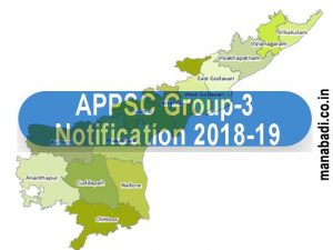 appsc group 3 notification 2018