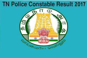 Tamil Nadu Police Constable Results 2017