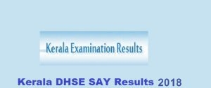 DHSE Kerala Plus Two SAY Results 2018