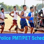 TS Police PMT-PET Schedule