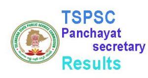 TSPSC panchyat secretary results