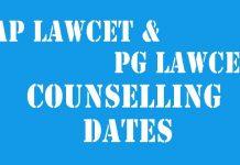 ap lawcet pg lawcet counselling dates