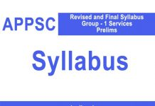 appsc-group-1 syllabus