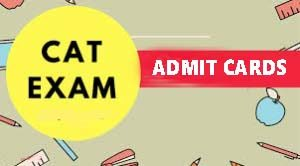 cat 2018 admit cards