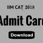 CAT admit cards 2018