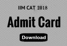 CAT admit cards 2018