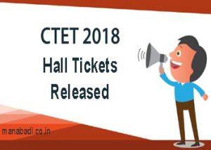 CTET admit cards 2018