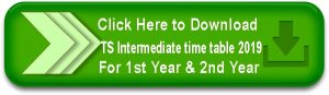 TS Intermediate time table 2019