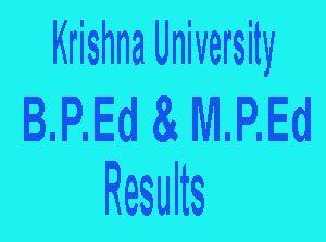 krishna university bped mped results