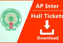 AP inter 1st year hall tickets