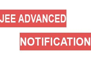 jee advanced notification